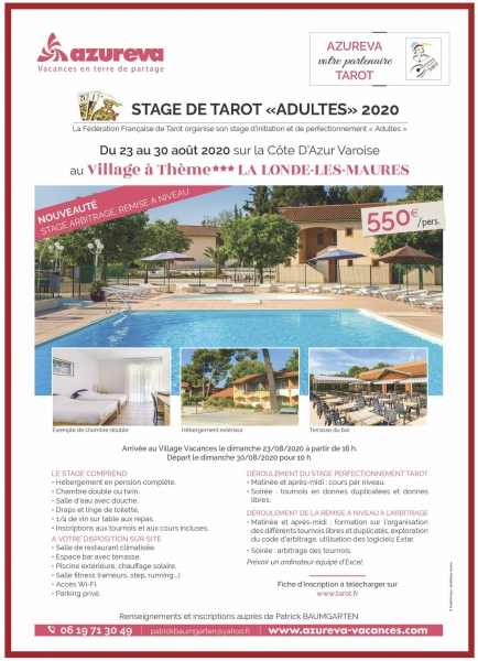 Affiche Stage Adultes 2020